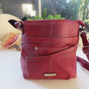 Rosetti Red soft Faux Leather Crossbody, like new